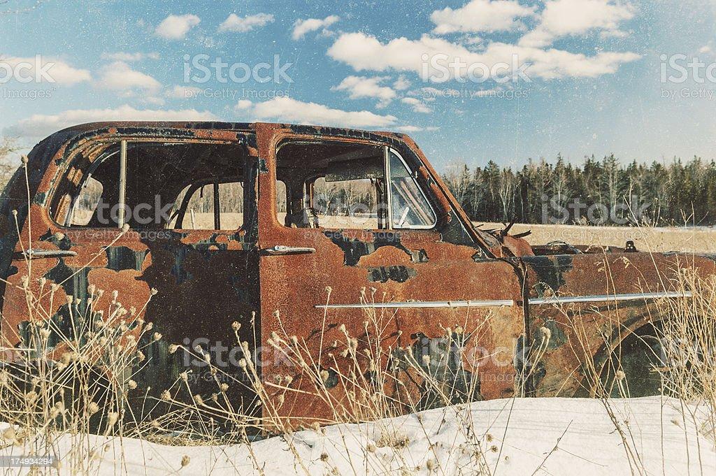 Abandoned Sedan royalty-free stock photo
