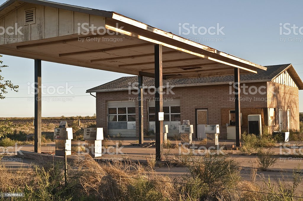 Abandoned Service Station royalty-free stock photo