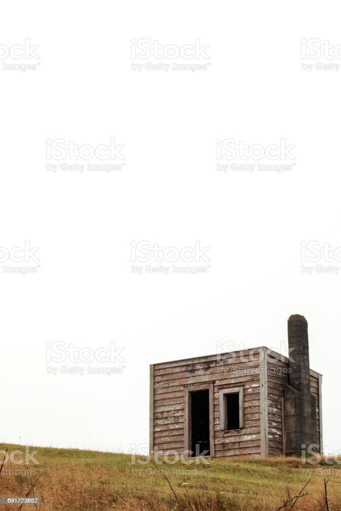 Abandoned Shed Waikato NZ stock photo