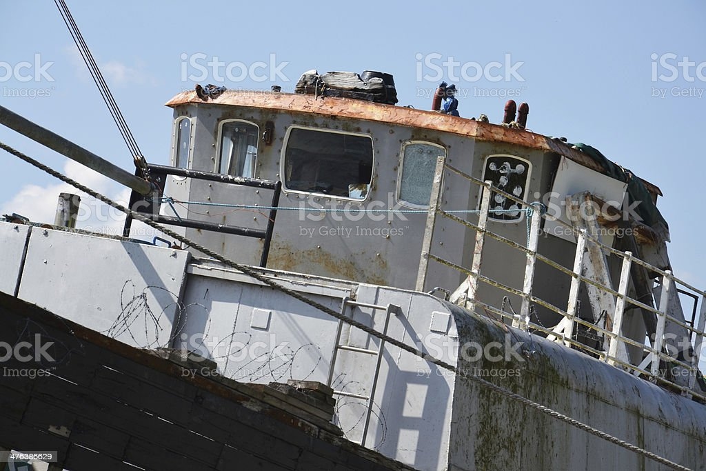 Abandoned ship royalty-free stock photo