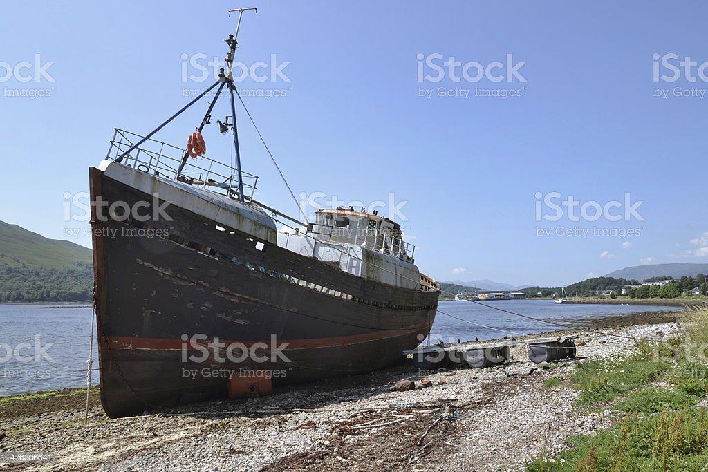 Abandoned ship royalty-free stock photo