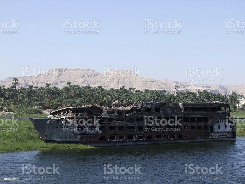 abandoned shipwreck royalty-free stock photo