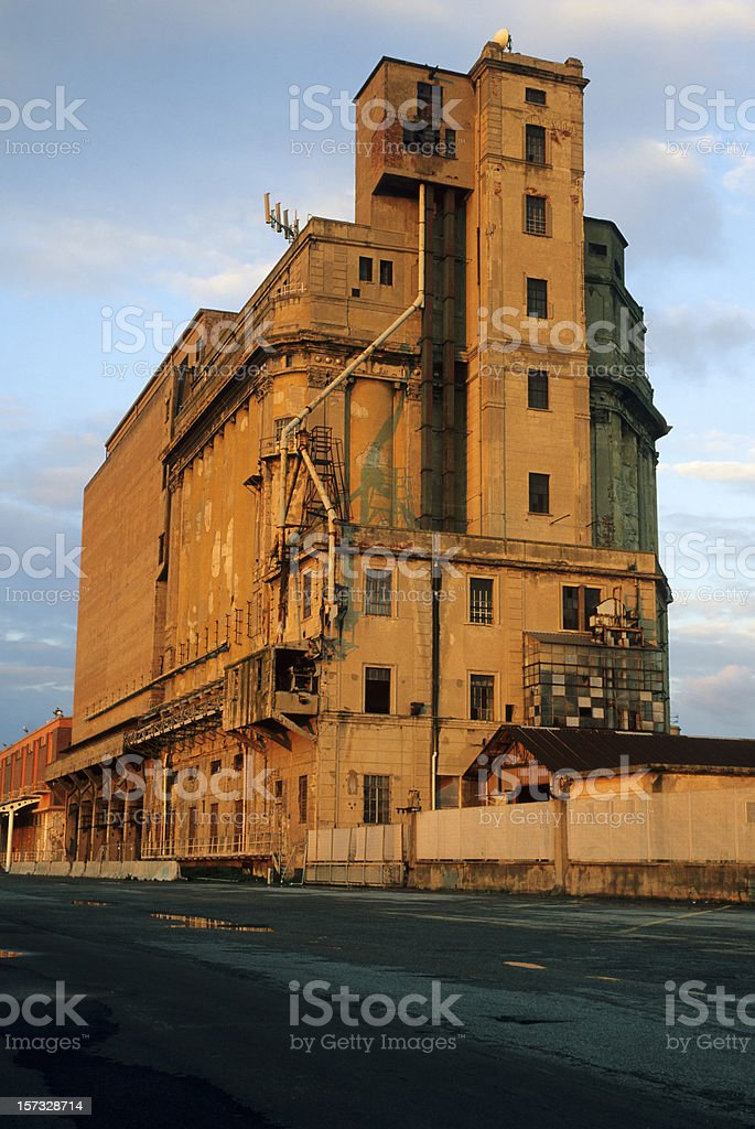 abandoned silo at sunset. The day after tomorrow-series. royalty-free stock photo