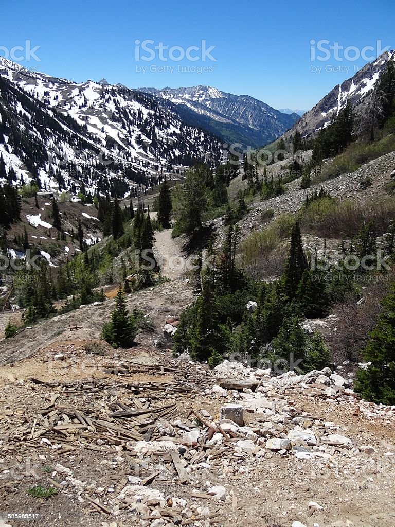 Abandoned Silver Mine, Wasatch Mountains, Alta, Utah stock photo