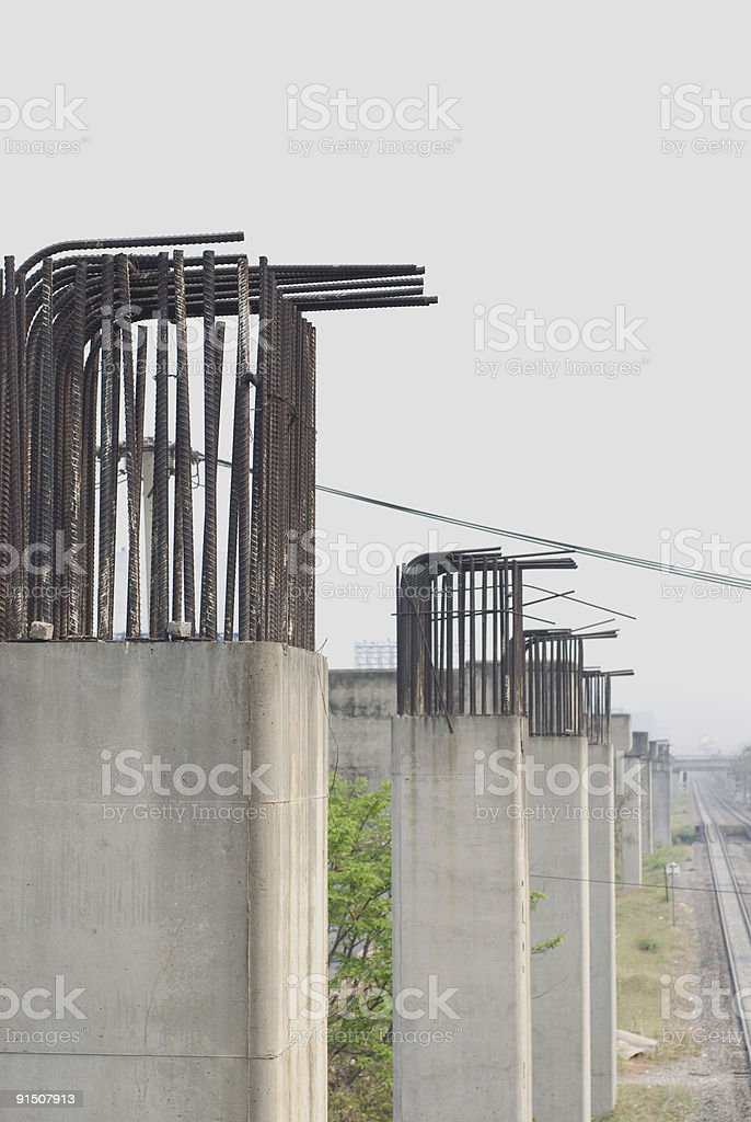 Abandoned Sky Train Project stock photo