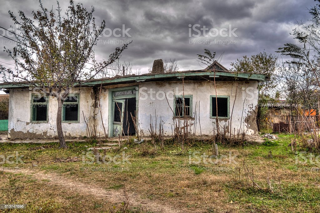 Abandoned Spooky House - HDR Image stock photo