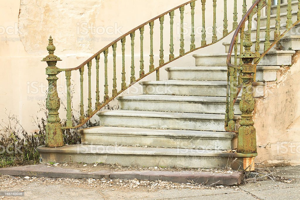 Abandoned Staircase stock photo