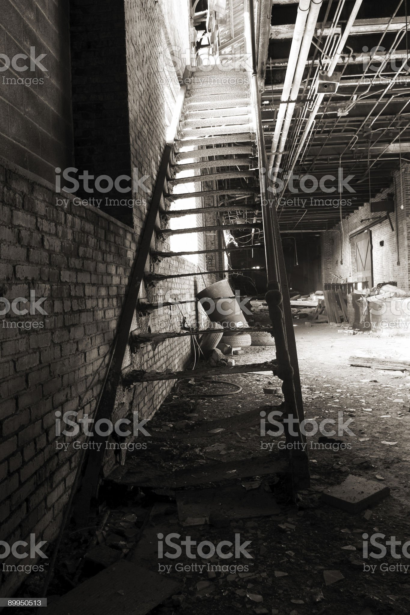 Abandoned Stairs royalty-free stock photo