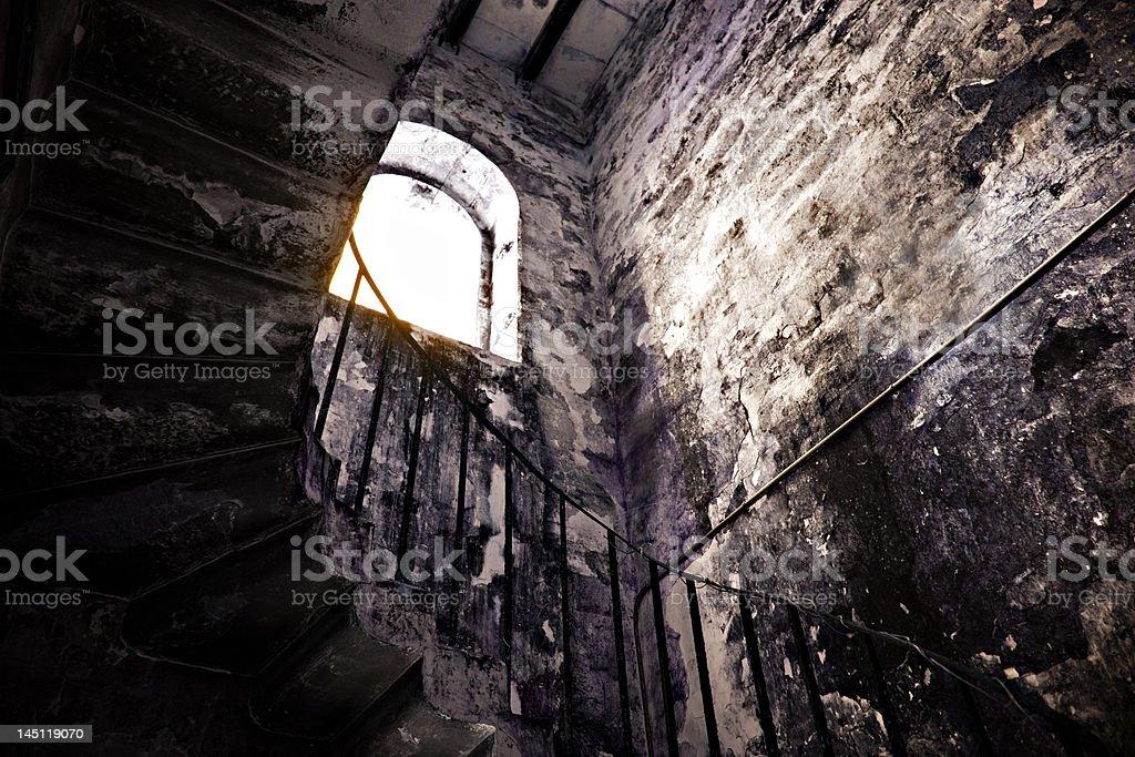 Abandoned Stairwell In Bermuda stock photo