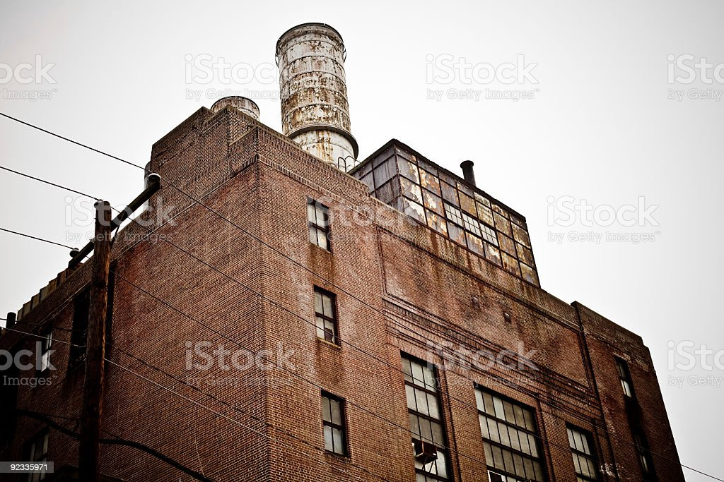 abandoned steam plant royalty-free stock photo