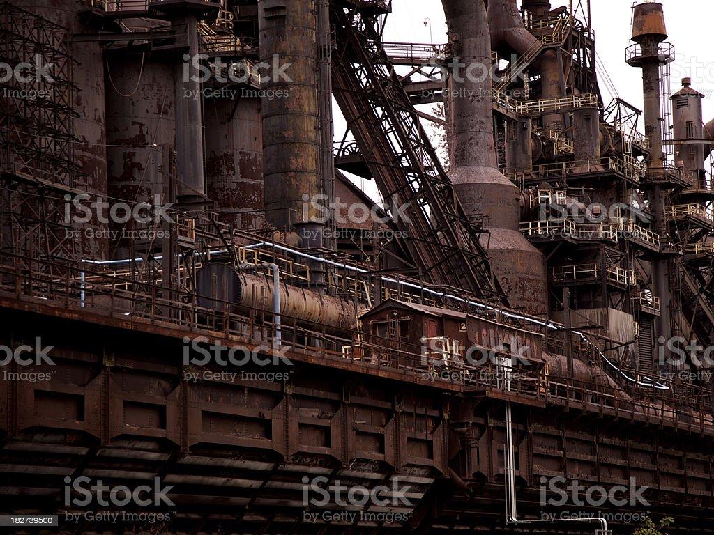 Abandoned steel blast furnace stock photo