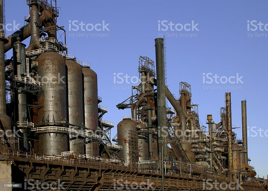 Abandoned Steel Mill stock photo