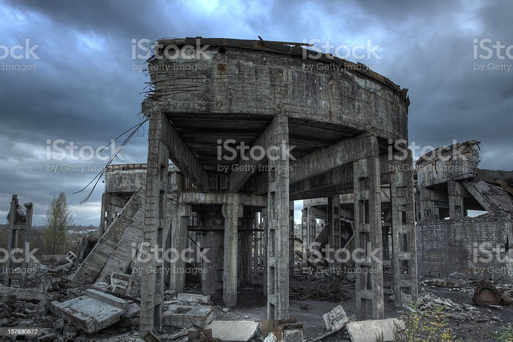 abandoned structure royalty-free stock photo