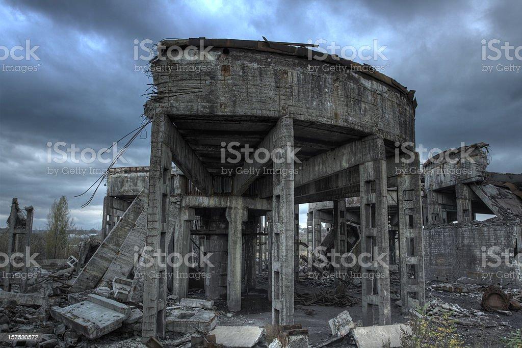 abandoned structure stock photo