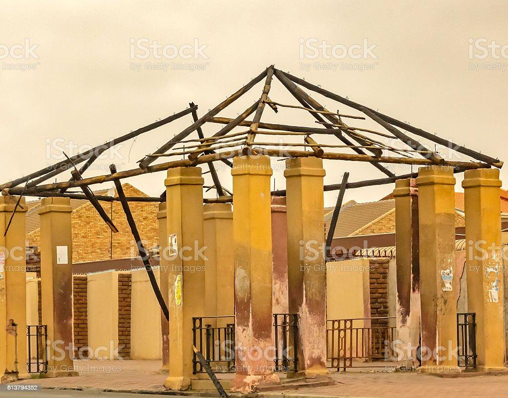 Abandoned stucture image stock photo