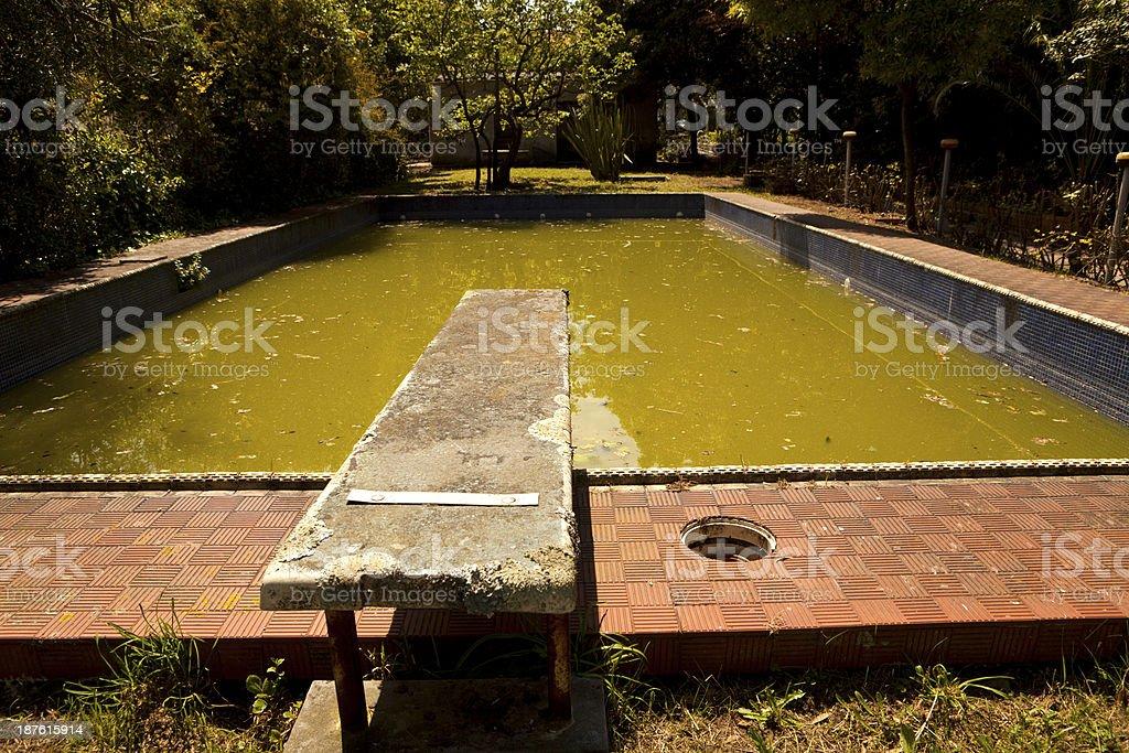 Abandoned Swimming Pool royalty-free stock photo