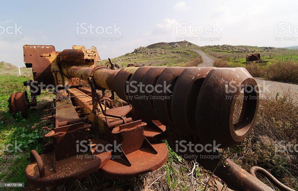 Abandoned Syrian Gun stock photo