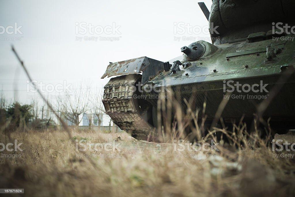 Abandoned tank stock photo