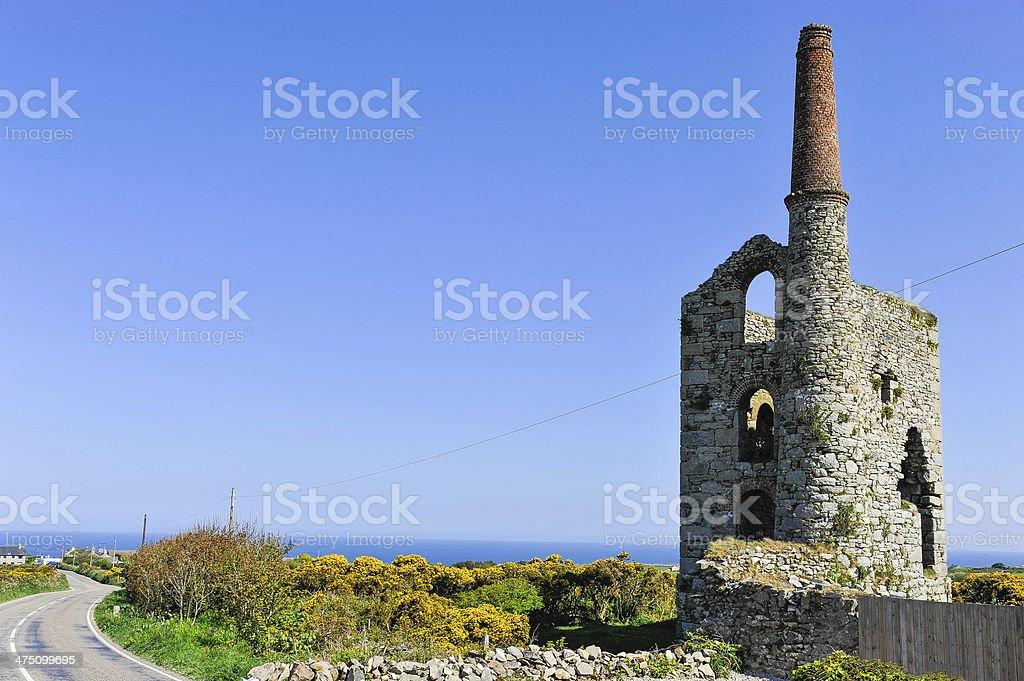 Abandoned tin mine, Cornwall, UK stock photo