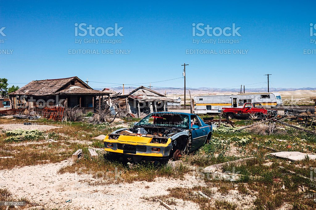 Abandoned town. Cisco, Utah. stock photo