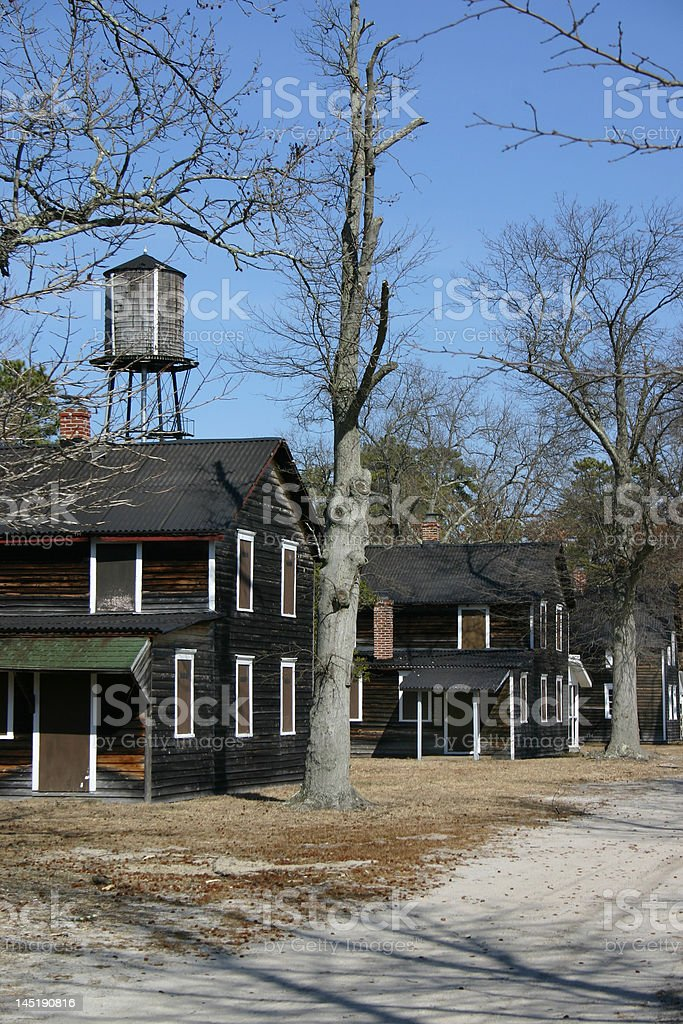 Abandoned town in the New Jersey Pine Barrens stock photo