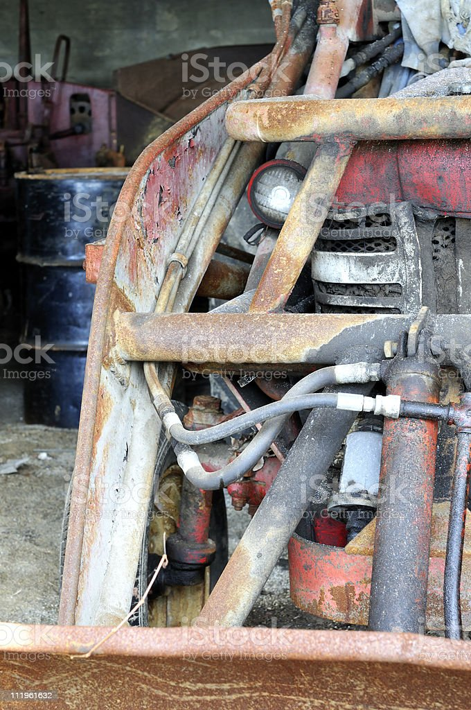 Abandoned Tractor Absctract royalty-free stock photo