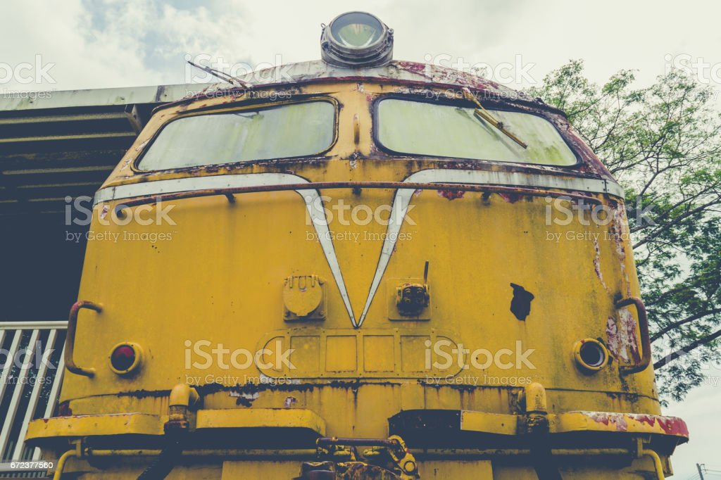 Abandoned Train Bogie stock photo