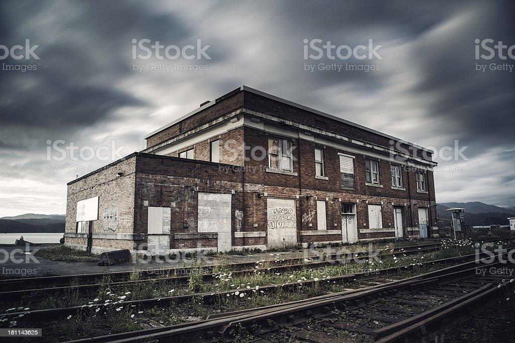 Abandoned Train Station royalty-free stock photo