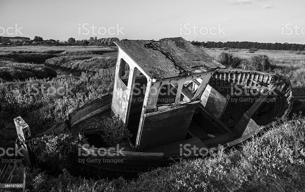 Abandoned Trawler royalty-free stock photo