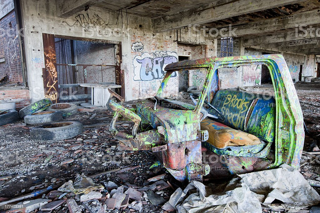 Abandoned truck royalty-free stock photo