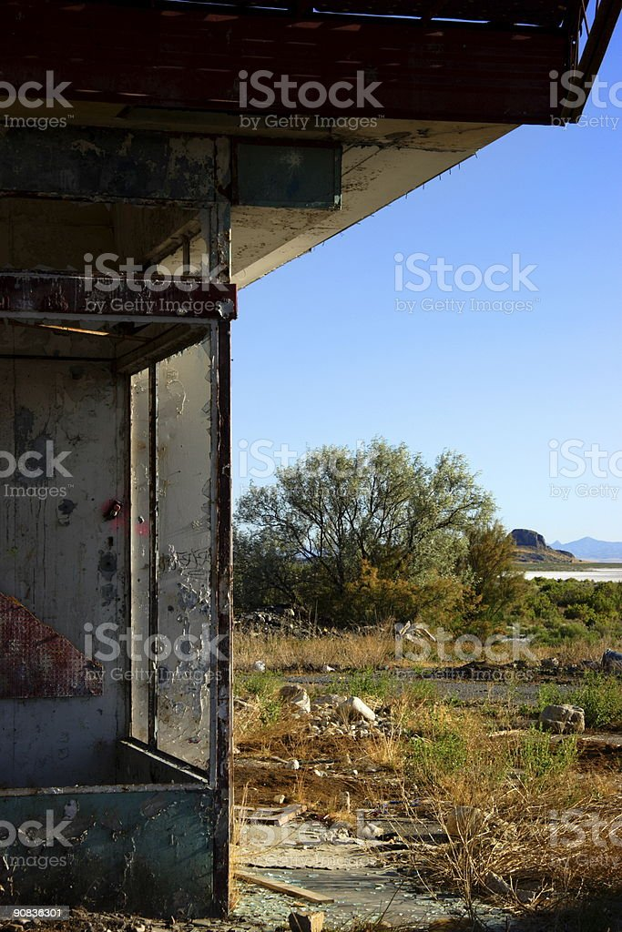 abandoned truck stop royalty-free stock photo