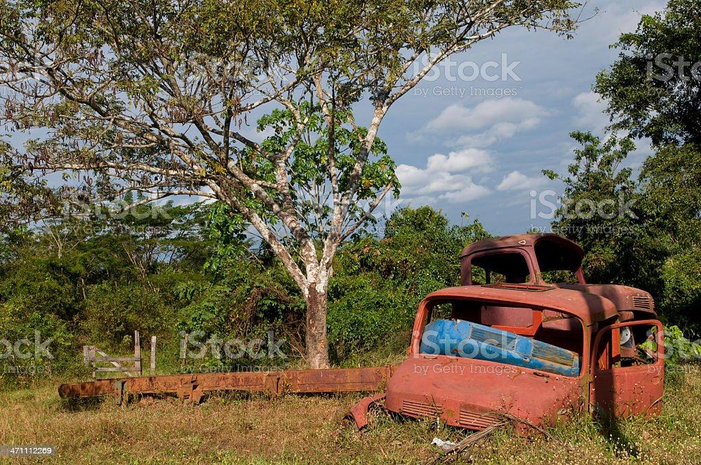 Abandoned trunk royalty-free stock photo