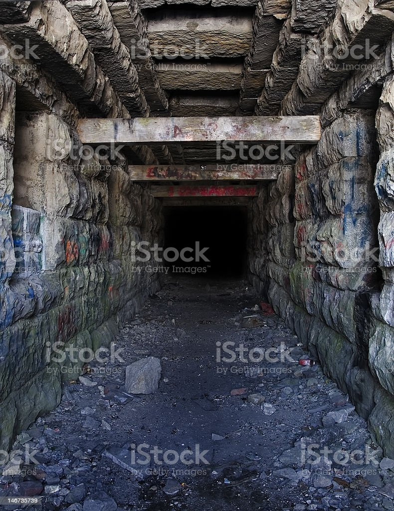 abandoned tunnel royalty-free stock photo