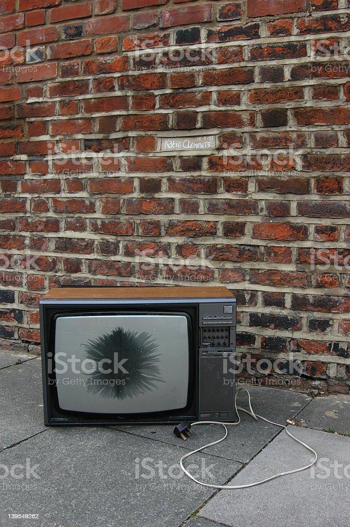 Abandoned TV 02 royalty-free stock photo