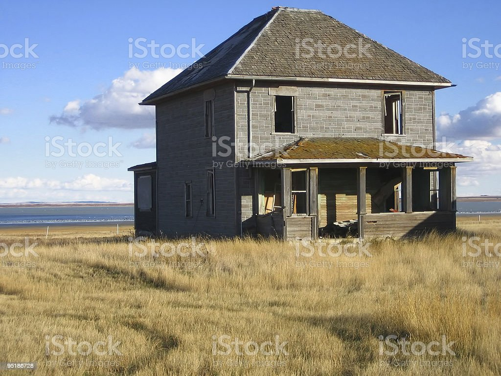 abandoned two story home royalty-free stock photo