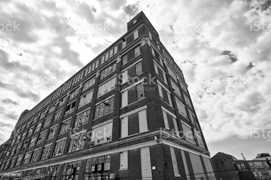Abandoned Urban Factory - Worn, Broken and Forgotten IV stock photo