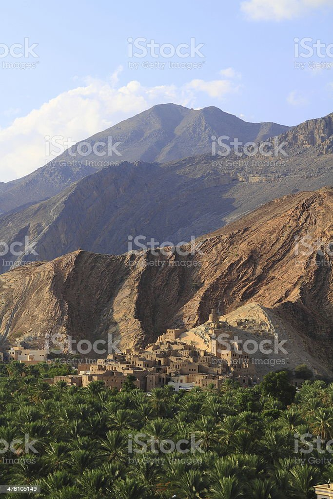 abandoned Village Birkat Al-Mawz royalty-free stock photo