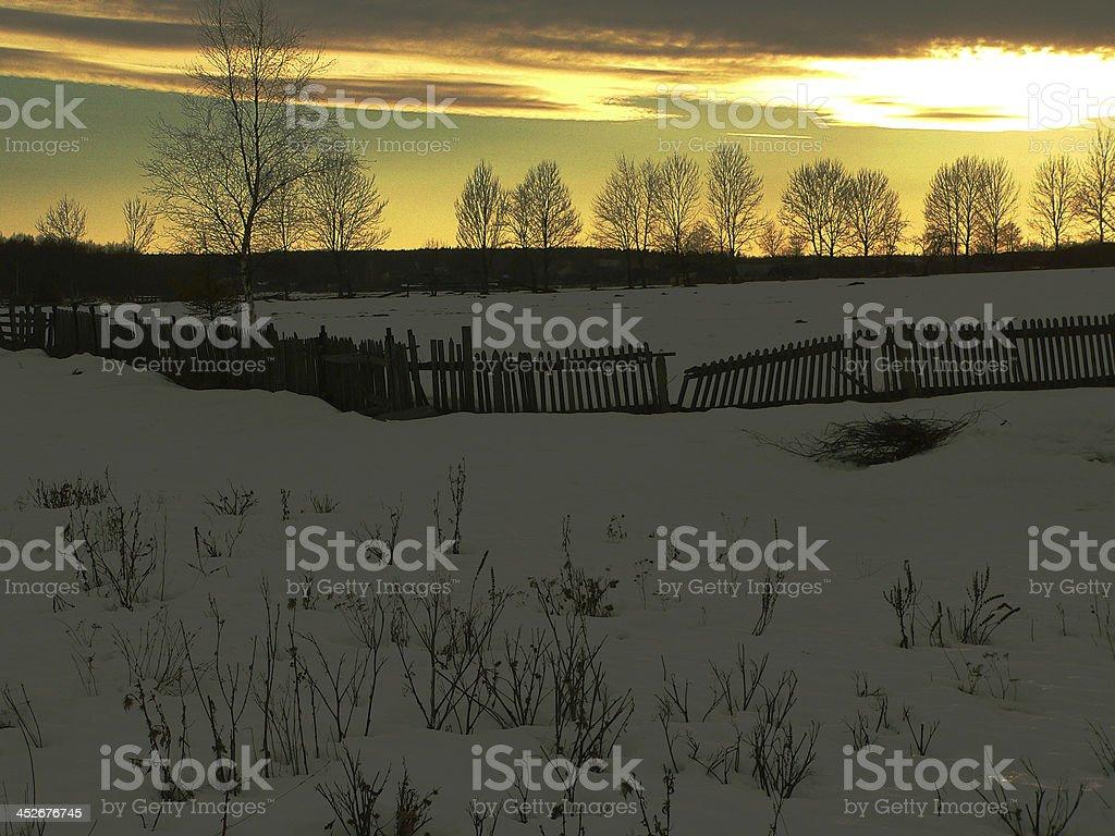 Abandoned village stock photo