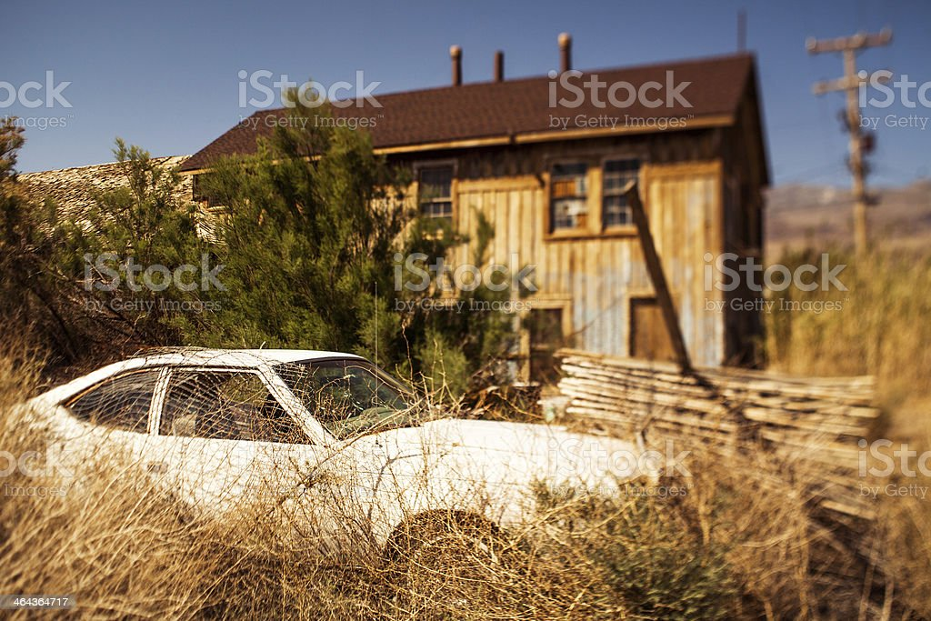 Abandoned vintage car royalty-free stock photo