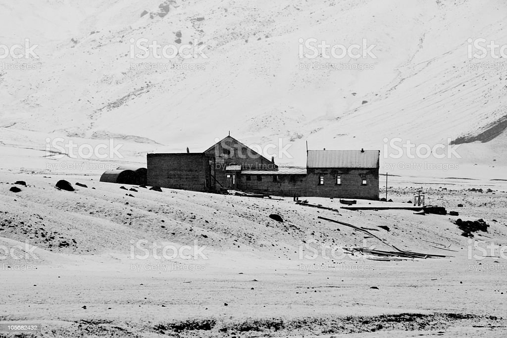 Abandoned Whaling Station, Deception Island, Antarctica stock photo