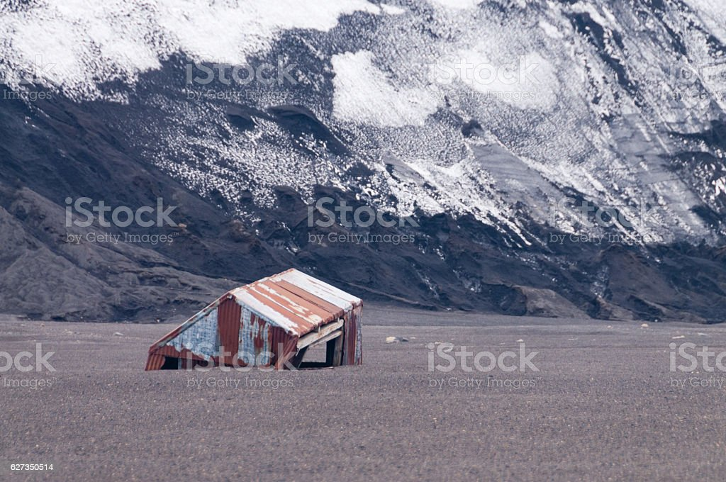 Abandoned Whaling Station stock photo