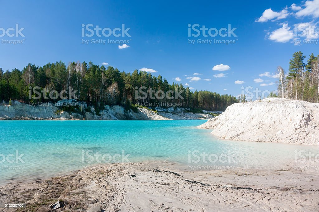 Abandoned white clay quarry royalty-free stock photo