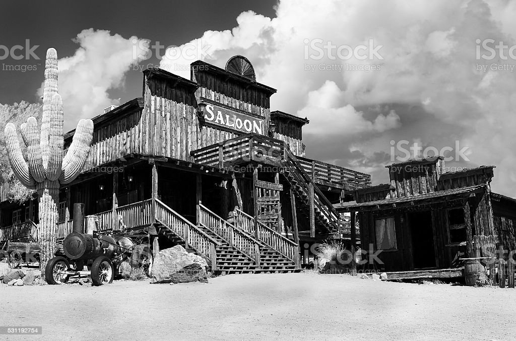 Abandoned Wild West Saloon stock photo