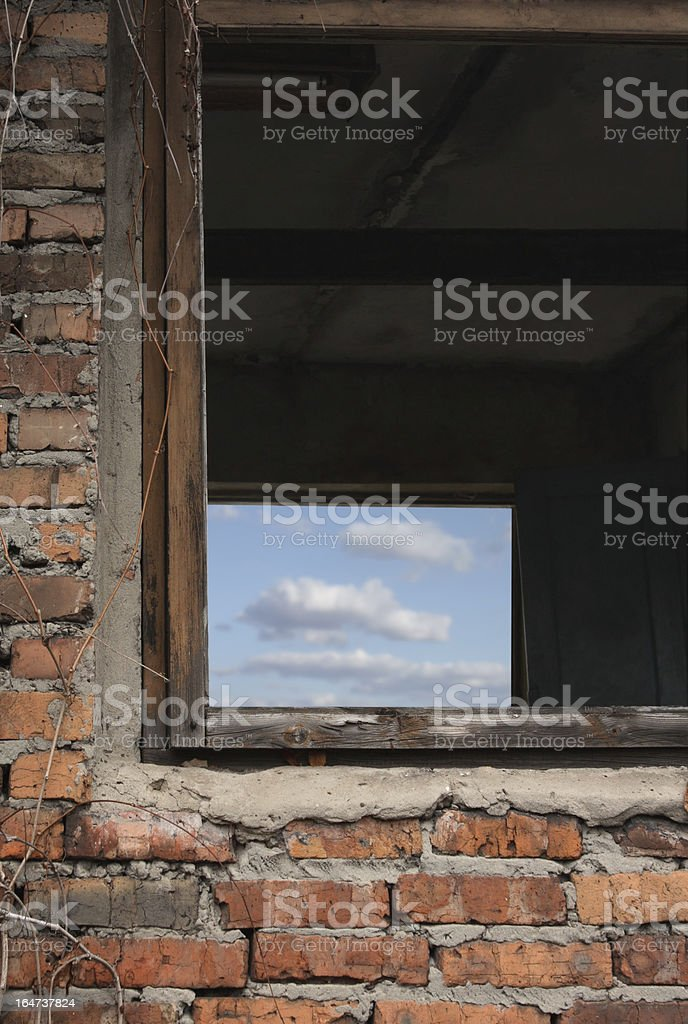 Abandoned window royalty-free stock photo