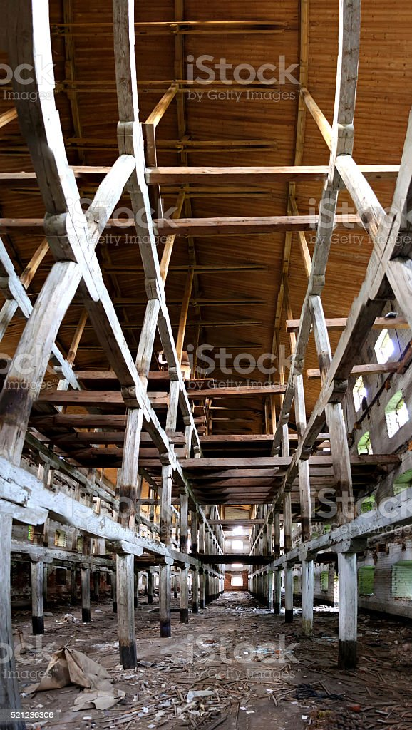 abandoned wooden building stock photo
