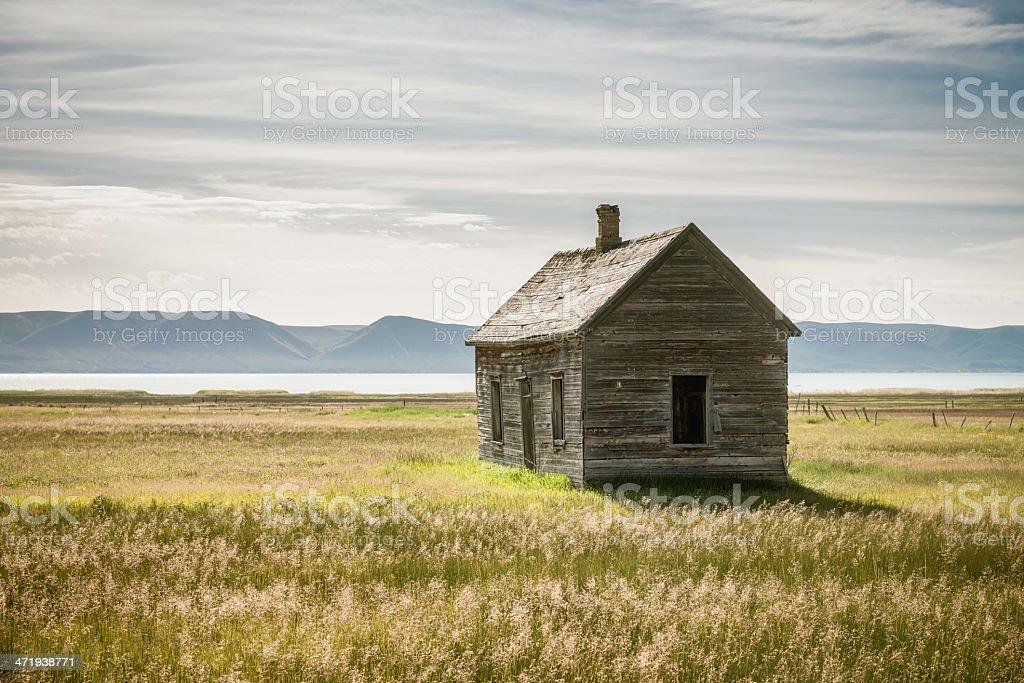 Abandoned Wooden House, Idaho royalty-free stock photo