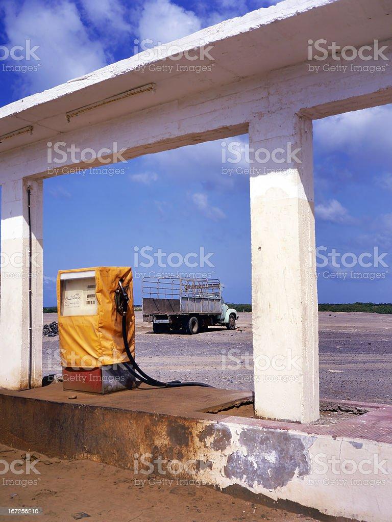 Abandonment gas station royalty-free stock photo
