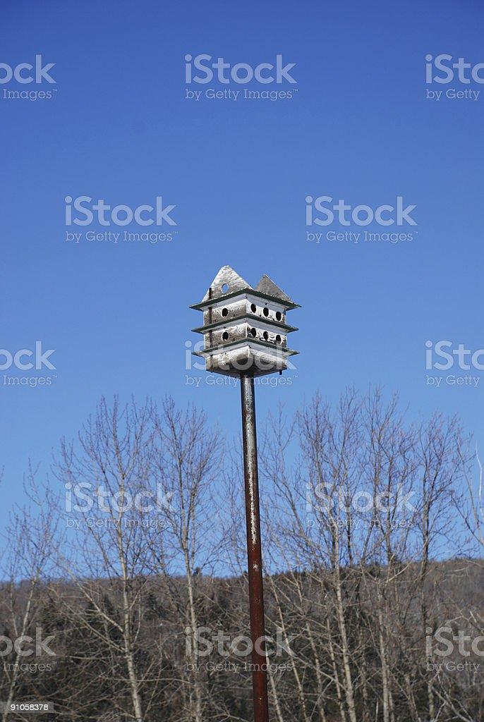 Abandonned bird condo royalty-free stock photo