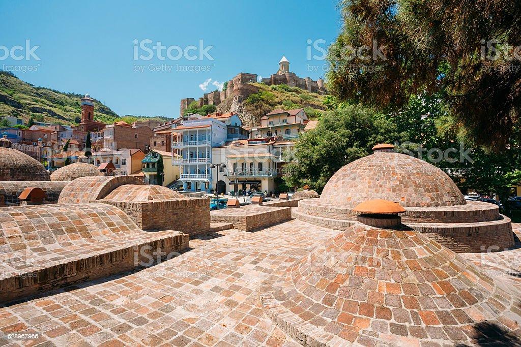 Abanotubani - Bath District In Tbilisi, Georgia stock photo