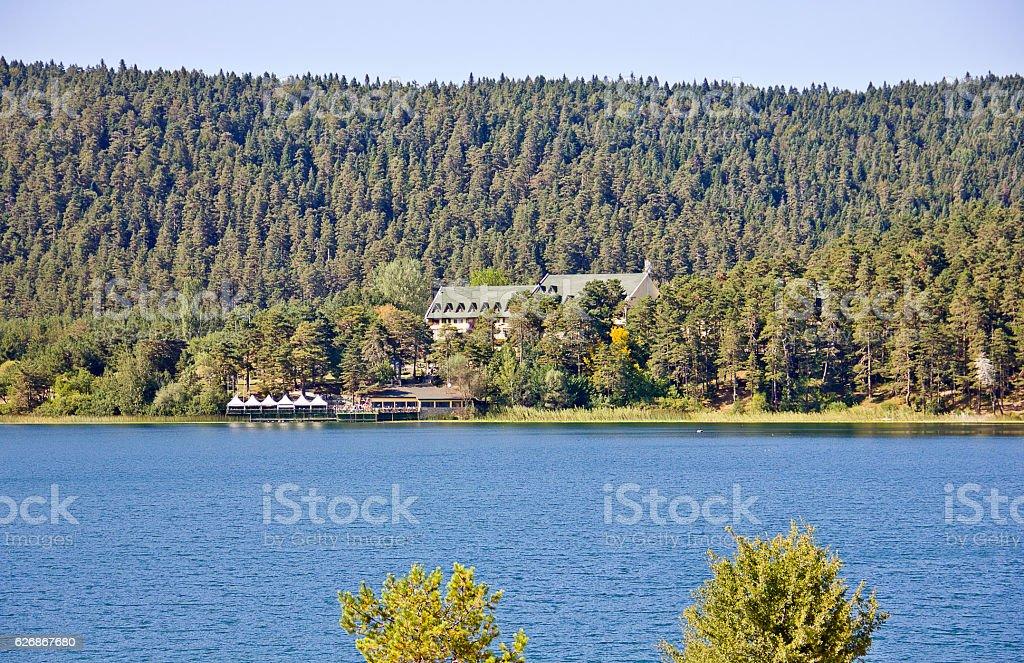 Abant Lake View stock photo